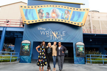 Mindy Kaling Reese Witherspoon The Stars Of Disney's 'A Wrinkle In Time' Surprise Fans at Disneyland