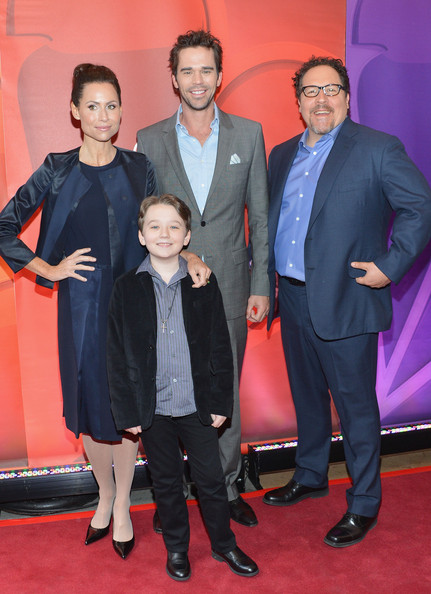 Red Carpet at the NBC Upfront Event in NYC [premiere,event,carpet,suit,red carpet,flooring,actors,jon favreau,david walton,benjamin stockham,l-r,nyc,red carpet,nbc,nbc upfront event,presentation red carpet event]