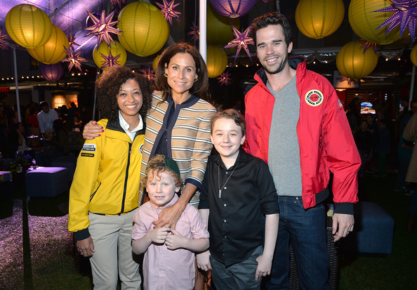 'Spring Break' Fundraiser in LA [spring break,people,event,yellow,fun,party,family,child,actors,member,minnie driver,henry story driver,benjamin stockham,l-r,los angeles,city year,fundraiser]
