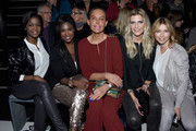 (L-R) Otlile Mabuse, Motsi Mabuse, Natascha Ochsenknecht, Tanja Buelter and Tina Ruhland attend the Minx by Eva Lutz show during the Mercedes-Benz Fashion Week Berlin Autumn/Winter 2016 at Brandenburg Gate on January 20, 2016 in Berlin, Germany.