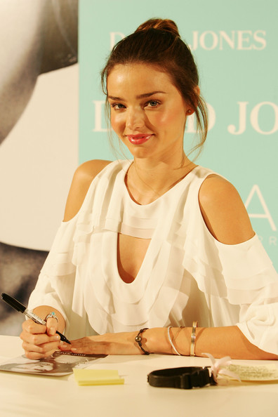 Miranda Kerr David Jones ambassador Miranda Kerr makes a public appearance