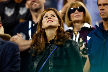 Mirka Federer 2014 U.S. Open - Day 11
