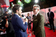 Alex Zane interviews director Christopher McQuarrie at the UK Premiere of 'Mission: Impossible - Fallout' at the BFI IMAX on July 13, 2018 in London, England.