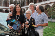 (L-R)  Italian designers Angela Missoni, Ottavio Missoni, Rosita Missoni, Vittorio Missoni and Luca Missoni attend the Missoni Spring/Summer 2012 fashion show as part Milan Womenswear Fashion Week on September 25, 2011 in Milan, Italy.