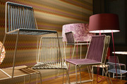Designs from the Missoni Collection are displayed during the Missoni Home Luci e Ombre Cocktail Party during the Milan Design Week 2011 on April 11, 2011 in Milan, Italy.
