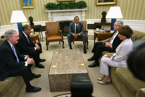 Barack Obama Meets with Members of Congressional Leadership