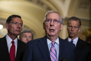 Mitch McConnell Senate Republicans And Democrats Deliver Remarks After Weekly Policy Luncheons