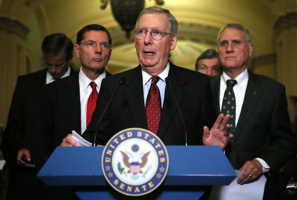 Senate Republicans Speak To Press After Weekly Policy Meeting