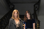 Carine Roitfeld and Julia Restoin-Roitfeld arrive for the Miu Miu Pret a Porter show as part of the Paris Womenswear Fashion Week Spring/ Summer 2010 on October 7, 2009 in Paris, France.