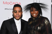 Maxwell (L) and  Tai Beauchamp attend the MoCADA 3rd Annual Masquerade Ball at Brooklyn Academy of Music on October 25, 2017 in New York City.