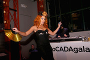 Jillian Hervey (L) and Lucas Goodman of Lion Babe perform onstage during the MoCADA 3rd Annual Masquerade Ball at Brooklyn Academy of Music on October 25, 2017 in New York City.
