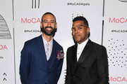 Director of MoCADA James Bartlett (L) and Maxwell attend the MoCADA 3rd Annual Masquerade Ball at Brooklyn Academy of Music on October 25, 2017 in New York City.