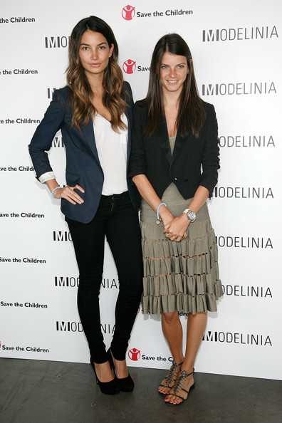 Photo of Lily Aldridge & her friend  Bracelet Launch