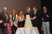 Actors Ed O'Neill, Aubrey Anderson-Emmons, Julie Bowen, Sarah Hyland, Jesse Tyler Ferguson, Eric Stonetreet and Ty Burrell attend a 'Modern Family' Wedding episode screening at Zanuck Theater at 20th Century Fox Lot on May 19, 2014 in Los Angeles, California.