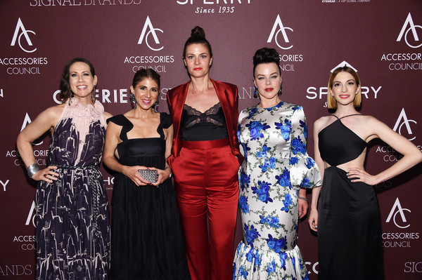 Accessories Council Hosts The 23rd Annual ACE Awards - Inside [beauty,fashion,dress,event,premiere,carpet,fashion design,model,red carpet,fashion accessory,accessories council,ace awards,award,l-r,annual ace awards,miriam shor,molly bernard,debi mazar,rosemary lepre forman,jacqueline demeterio]
