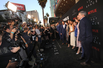 Molly Parker Mina Sundwall Netflix's 'Lost In Space' Los Angeles Premiere