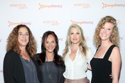 """(L-R) Kristi Jacobson, Ellen Latham, Ali Larter, and Nicole Galovski attend """"Momentum Shift"""" Film Premiere Highlights Orangetheory's Inspiring, Female Founder Story And Other Tales Of The Power Of Community at Directors Guild Of America on October 21, 2019 in Los Angeles, California."""