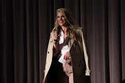 """Ali Larter speaks onstage during """"Momentum Shift"""" Film Premiere Highlights Orangetheory's Inspiring, Female Founder Story And Other Tales Of The Power Of Community at Directors Guild Of America on October 21, 2019 in Los Angeles, California."""