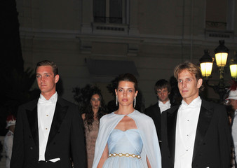 Prince Andrea Casiraghi Monaco Royal Wedding - Dinner Arrivals and Fireworks