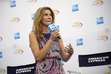 Monica Seles Monica Seles Surprises Fans Inside The American Express Pro Walk At The 2016 US Open