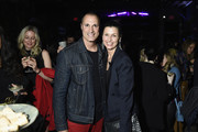 """Nigel Barker and Bridget Moynahan attend the Monkey 47 Gin Celebrates """"Shaken And Stirred"""" Podcast Launch With Nigel Barker And Tom Astor At The Wild Monkey on April 27, 2019 in New York City."""