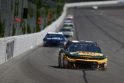 Ryan Newman, driver of the #31 Bass Pro Shops/Cabela's Chevrolet, leads a pack of cars during the Monster Energy NASCAR Cup Series Gander Outdoors 400 at Pocono Raceway on July 29, 2018 in Long Pond, Pennsylvania.