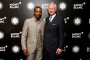 Actor Anthony Mackie and CEO of luxury brand Montblanc International, Lutz Bethge attend Montblanc honors Jane Rosenthal at 2014 Montblanc de la Culture Arts Patronage Award Ceremony on June 3, 2014 in New York City.