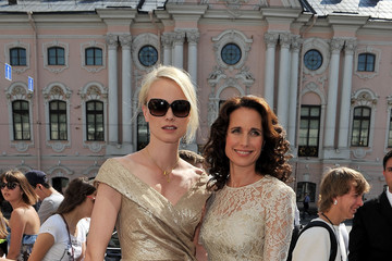 Andie MacDowell Franziska Knuppe Montblanc New Voices Award 2011- Boutique Reception