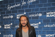 """DJ Bob Sinclar attends a Pre-Oscar charity brunch hosted by Montblanc and UNICEF to celebrate the launch of their new """"Signature For Good 2013"""" Initiative with special guest Hilary Swank at Hotel Bel-Air on February 23, 2013 in Los Angeles, California."""