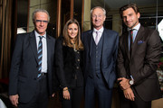 (EXCLUSIVE COVERAGE)  (L-R) Actor Christophe Lambert (wearing Montblanc TimeWalker Northern Hemisphere watch), Montblanc friend of the brand Olivia Palermo (wearing Montblanc Star Classique Automatic watch), Lutz Bethge, CEO Montblanc International and Johannes Huebl (wearing  Montblanc Star 4810 Chronograph) attend the Montblanc VIP dinner at SIHH 2013 on January 22, 2013 in Geneva, Switzerland.