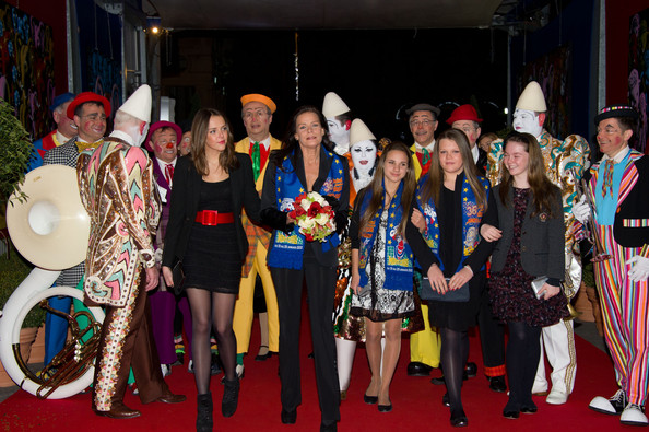 In this handout image provided by Monaco Palace, Pauline Ducruet (L), Princess Stephanie of Monaco (2nd,L), Camille Gottlieb (2nd R) and Princess Alexandra of Hanover (R) attend the 36th Monte-Carlo International Circus Festival on January 20, 2012 in Monte-Carlo, Monaco.