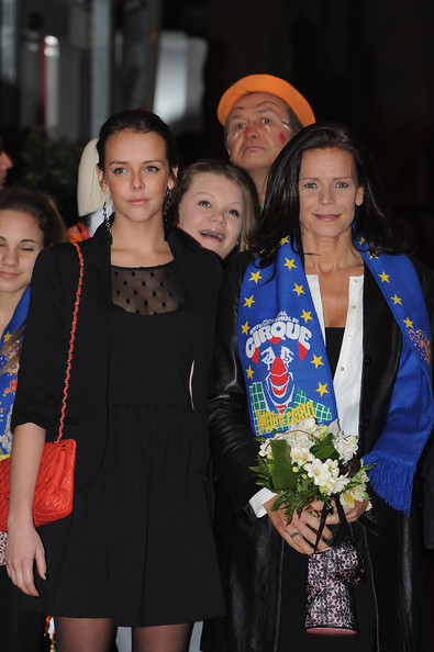 (L-R)Pauline Ducruet, Camille Gottlieb and Princess Stephanie of Monaco attend the Monte-Carlo 36th International Circus Festival on January 21, 2012 in Monte-Carlo, Monaco.