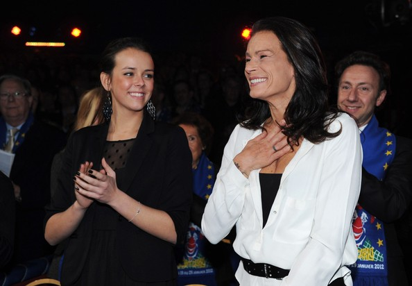 In this handout image provided by the Monaco Palace, Pauline Ducruet and Princess Stephanie of Monaco (R) attend the 36th Monte-Carlo International Circus Festival on January 21, 2012 in Monte-Carlo, Monaco.