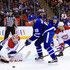 Milan Michalek Photos - Mike Condon #39 of the Montreal Canadiens makes a save on a shot by Milan Michalek #18 the Toronto Maple Leafs during an NHL preseason game at Air Canada Centre on October 2, 2016 in Toronto, Canada. - Montreal Canadiens v Toronto Maple Leafs