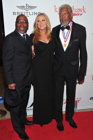 9th Annual Living Legends Of Aviation Awards - Arrivals [suit,carpet,red carpet,event,premiere,formal wear,tuxedo,dress,flooring,white-collar worker,morgan freeman,lori mccreary,alfonso freeman,9th annual living legends of aviation awards,living legends of aviation awards,hotel,california,beverly hills,the beverly hilton,arrivals]