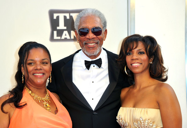 Photo of Morgan Freeman & his  Daughter  Morgana Freeman