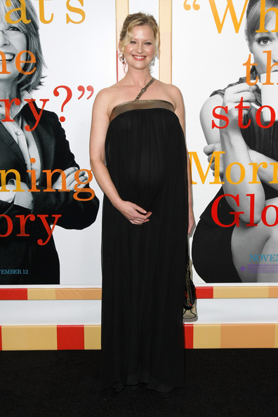 "Actress Gretchen Mol attends the New York Premiere of ""Morning Glory"" at Ziegfeld Theatre on November 7, 2010 in New York City."