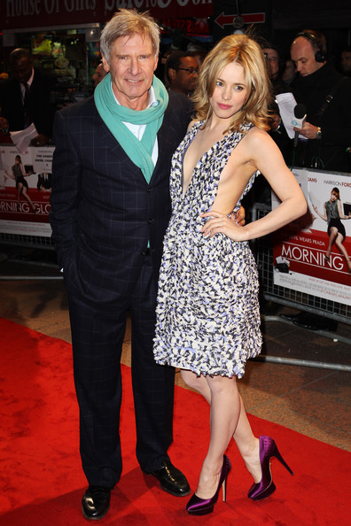 (UK TABLOID NEWSPAPERS OUT) Harrison Ford and Rachel McAdams attend the UK premiere of Morning Glory held at The Empire Leicester Square on January 11, 2011 in London, England.