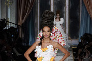 Joan Smalls walks the runway during the Moschino fashion show as part of Milan Fashion Week Fall/Winter 2020-2021 on February 20, 2020 in Milan, Italy.