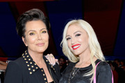 Kris Jenner (L) and Gwen Stefani attend the Moschino Spring/Summer 19 Menswear and Women's Resort Collection at Los Angeles Equestrian Center on June 8, 2018 in Burbank, California.