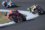 Marc Marquez of Spain and Repsol Honda Team leads the field during the MotoGP race during the MotoGP of Japan - Race at Twin Ring Motegi on October 21, 2018 in Motegi, Japan.