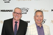 "Brad Altman and George Takei attend the New York premiere of ""Mr. Holmes"" at Museum of Modern Art on July 13, 2015 in New York City."