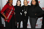 Ms. Foundation For Women President and CEO Teresa C. Younger, Comedian Kelly Bachman, Ms. Foundation For Women Founding Mother Gloria Steinem and Comedian Michelle Buteau attend Ms. Foundation For Women's 24th Comedy Night at Carolines on Broadway on January 13, 2020 in New York City.