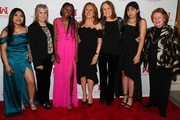 (L-R) Jessica Hernandez, Charlotte Iradukunda, Marlo Thomas, Founding Mother, Ms. Foundation Gloria Steinem, Layla Bagwell, President & CEO of Ms. Foundation Teresa C. Younger and Founding moattend the Ms. Foundation For Women's Annual Gloria Awards at Capitale on May 08, 2019 in New York City.