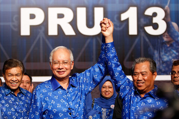 Muhyiddin Yassin Malaysian's Await Results Of 13th General Election