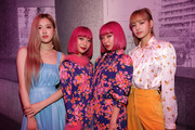 Singer Rose and Lisa of Blackpink, Aya Suzuki and Ami Suzuki attend the Mulberry A/W 18 event at K museum on September 6, 2018 in Seoul, South Korea.