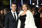 Jeremy Parisi and Kelly Brook attend the 'Murder On The Orient Express' World Premiere held at Royal Albert Hall on November 2, 2017 in London, England.