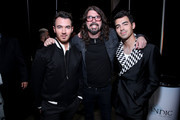(L-R) Kevin Jonas, Dave Grohl, and Joe Jonas attend MusiCares Person of the Year honoring Aerosmith at West Hall at Los Angeles Convention Center on January 24, 2020 in Los Angeles, California.