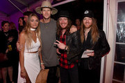 Brittney Marie Cole, Brian Kelley, Jaren Johnston, and Neil Mason attend Off The Record High End Fashion event on November 1, 2015 in Nashville, Tennessee. Featuring national designers John Varvatos, Gucci, Johnathan Kayne among others with artists Old Dominion, Maren Morris, Phil Vassar, Big Kenny, and more. Produced by Neste Event Marketing/EntertainmentBuy's Gil and Liz Cunningham, coordinated by Jessica Beattie with celebrity stylist Christiev Alphin.