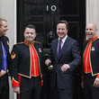 Richie Maddocks Musician Robin Gibb And The Soldiers Perform At 10 Downing Street